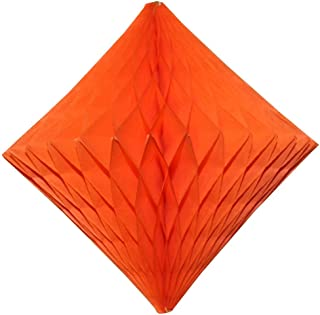 product image for 3-Pack 12 Inch Orange Honeycomb Diamond Decorations