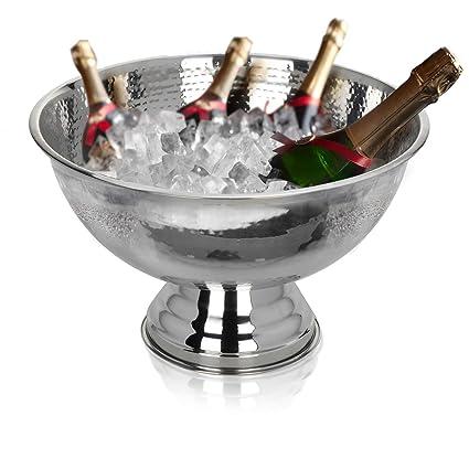 Edelstahl Champagnerschale Champagnerkühler Sektschale Sektkühler Flaschenkühler