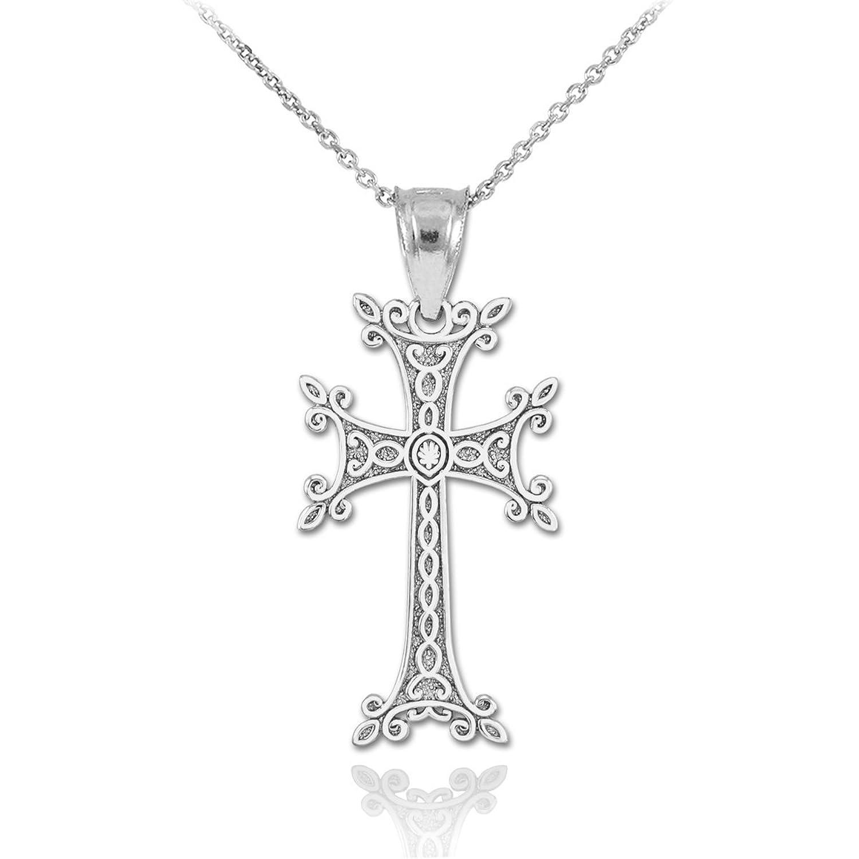 Amazon Dainty 925 Sterling Silver Armenian Cross Pendant