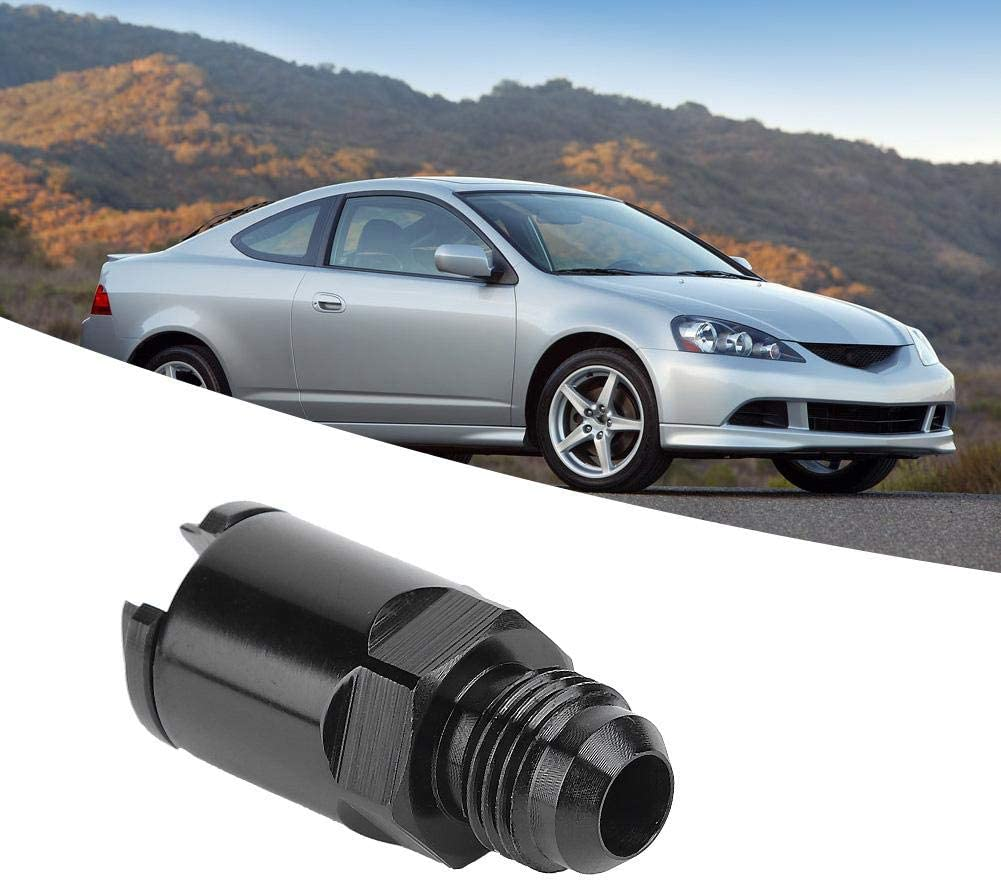 Aluminum Fuel Line EFI Adapter Fitting Aramox Fuel Line Adapter 6 AN Male to 1//4in Quick Disconnect Push Hardline