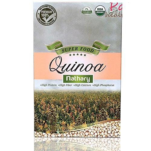 Nathary 100% Natural Quinoa |Gluten Free |USDA Organic |Super Food |Healthy by Nature |Advanced Nutrition | antioxidants | High Protein |High Fiber | Weight Loss | Diet Plan | (White Quinoa)