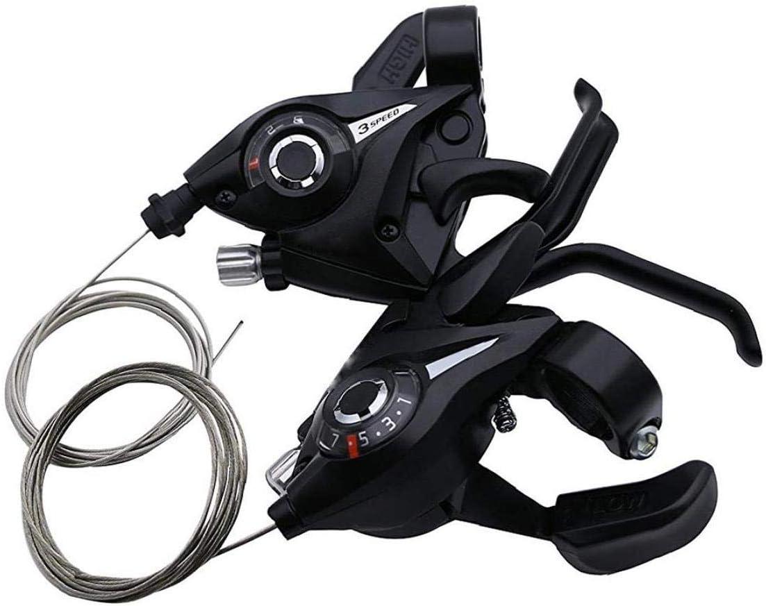 Runfon Bike COMANDI Bicyle 3x7 Speed ??Changer Shifter Set Cycle Gear Shifter di Trasmissione per 2pcs MTB Bici