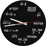 Orologio da parete in acrilico matematico creativo Design unico Divertente Matematica Formule Orologio per aula, casa, ufficio Decorazione moderna