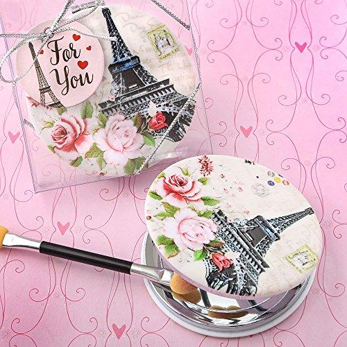 FavorOnline Paris Themed Leatherette Compact Mirror, 20 ()