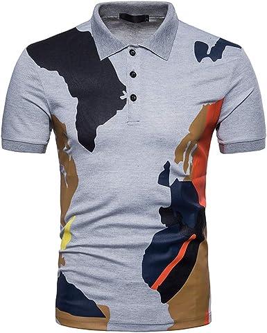 Camisa Polo De Los Hombres Camuflaje Camiseta Impresa Manga ...