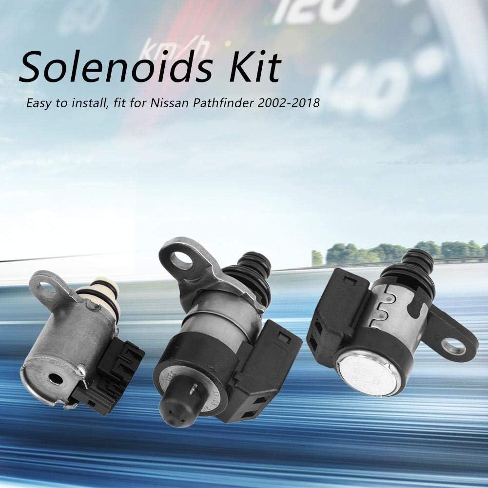 Solenoide Shift 7 pezzi di kit cambio serie solenoidi per Nissan Pathfinder 2002-2018 RE5R05A. 7 pezzi