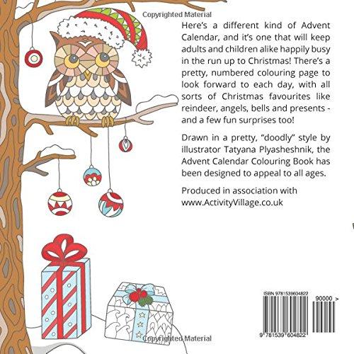 Amazon.com: Advent Calendar Colouring Book: 24 Numbered Christmas ...
