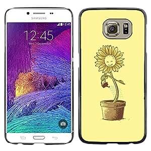 Shell-Star Arte & diseño plástico duro Fundas Cover Cubre Hard Case Cover para Samsung Galaxy S6 / SM-G920 / SM-G920A / SM-G920T / SM-G920F / SM-G920I ( Funny Suflower Waterin )