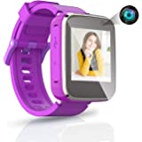 TAKUS Kids Smart Watch Toys for 3-8 Year Old Girls Toddler Watch HD Dual Camera Watch for Kids All in One Purple Christmas Bi