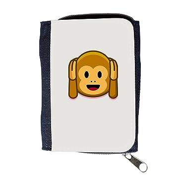 Cartera para hombre // Q05180631 Emoji mono 2 Platino // Purse Wallet: Amazon.es: Electrónica
