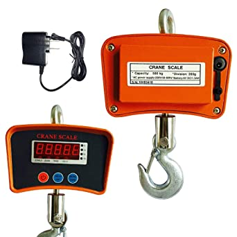 【USA】500KG//1100LBS Digital Crane Scale INDUSTRIAL Electronic Hanging Scale SALE