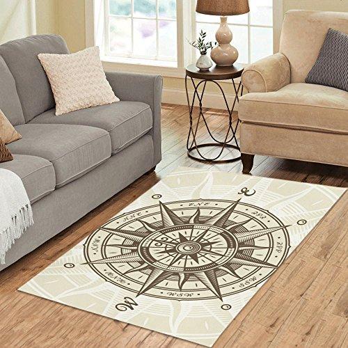 Nautical Compass Rose Rug: Amazon.com: Your-fantasia Area Rug Custom Vintage Nautical