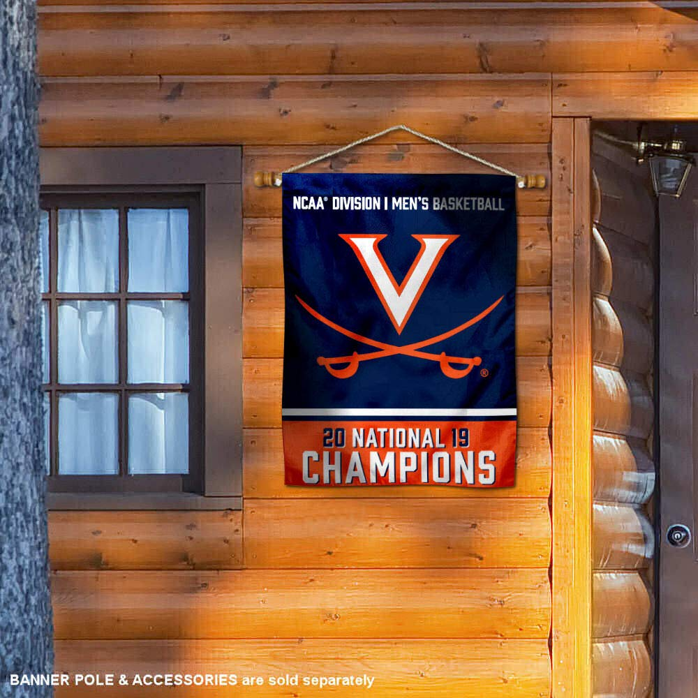 Virginia Cavaliers 2019 Basketball National Champions House Flag Banner
