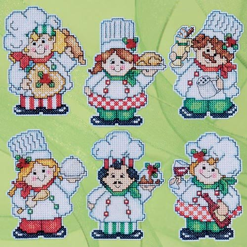 Design Works Crafts Cooking up Christmas, 3'' x 4'' Ea Cross Stitch Ornament Kit by Design Works Crafts
