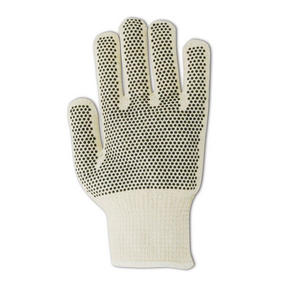Magid Glove & Safety N930RLIPR Magid MultiMaster Ambidextrous Nitrile Dotted Gloves, Jumbo (Fits), Natural, Men's (Fits Large) (Pack of 12)