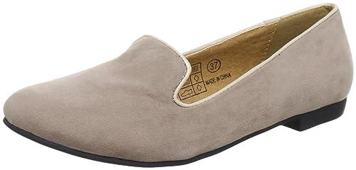 Buffalo Girl 324887 ZM SMLP Suede, Mocasines para Mujer, Gris (Grau (Grey 17), 42 EU: Amazon.es: Zapatos y complementos