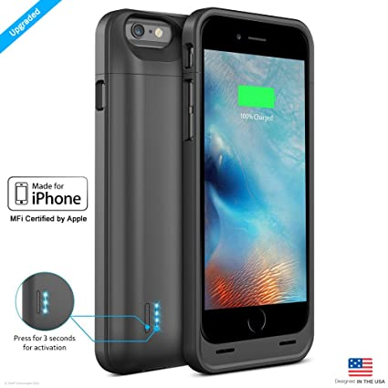 low priced 98701 9c8d1 ZAAP iPhone 6/6S Battery Case/Charging case/3100 mAh Slim Power Bank(Grey)