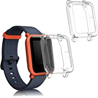 - Sport Tracker Accessory TPU Silicone Case 42mm kwmobile 2-Pack Fitness Tracker Frame Compatible with Xiaomi Huami Amazfit GTR Transparent