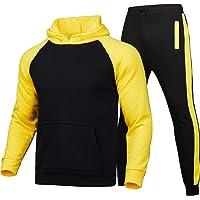 Chándal Completo de Felpa para Hombre Conjunto 2 Piezas Sudadera con Capucha + Pantalones Largos de Jogging Chándal…