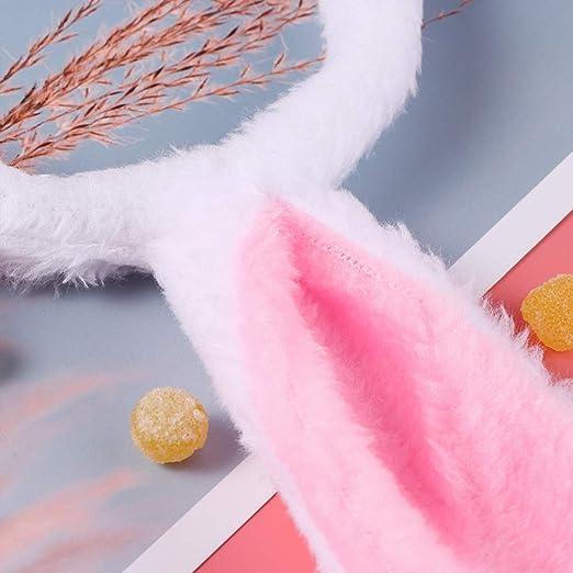 Minkissy 9 Piezas Pascua Orejas de Conejo Diademas Colas Y ...