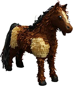 Pinatas 3D Horse Party Game, Decoration & Photo Prop - Brown/Tan