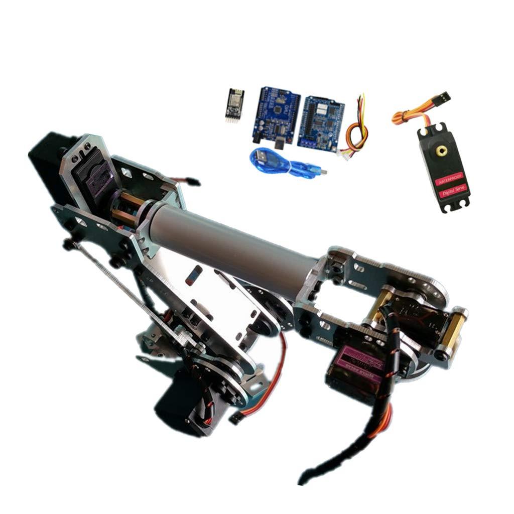 Non brand Sharplace Kit di Braccio Meccanico Mano Robot Giocattolo Scienza DIY Metallo Nero