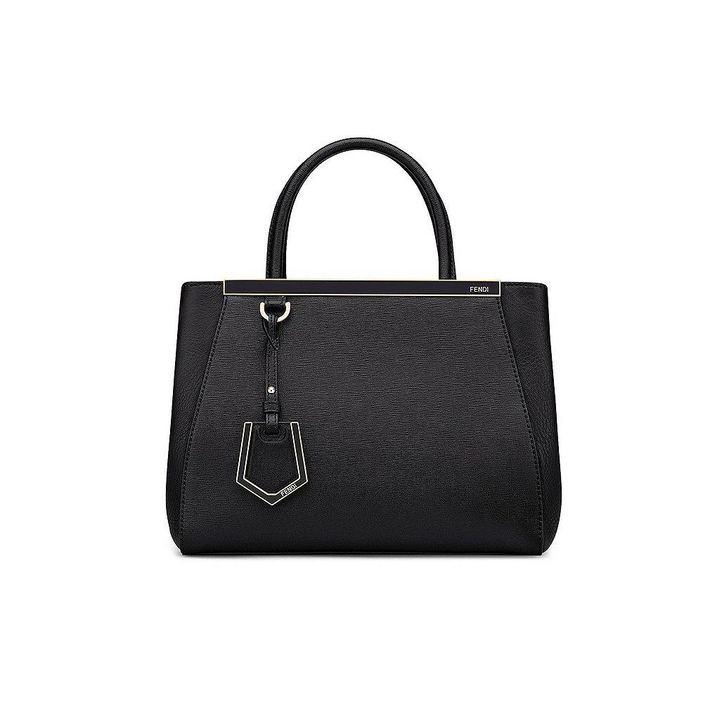 f2a303a618bb Fendi Women Handbag Petite 2Jours Black Elite Calfskin  Handbags  Amazon.com