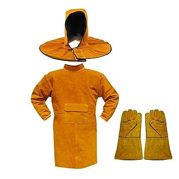 MagiDeal Ropa De Protección Ropa De Abrigo Largo Soldadura con Guantes Kit De Soldador: Amazon.es: Jardín