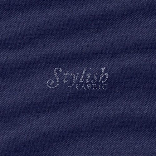 (Navy Solid Poly Poplin Fabric by the Bolt - 10 Yards (Wholesale Price))