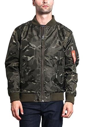 G-Style USA Men s Lightweight Tonal Camo Bomber Flight Jacket JK774 - Olive  - Small 1131b9ec53