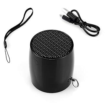 aimodi® Altavoz Portátil Wireless Mini Estimada exterior altavoz Bluetooth (2 W USB MP3 negro
