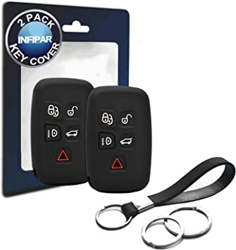 Car Key Fob Cover for Land Rover Jaguar Silicone Rubber Case