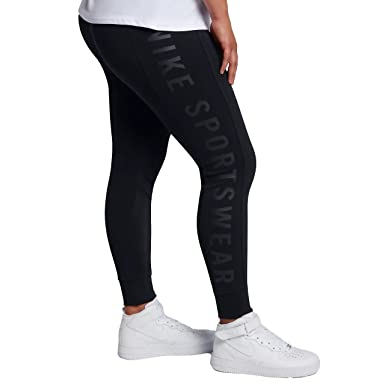 acfd2a8d18763c Nike Womens Essential Logo Legging Black/Black 921323-010 Size 1X-Large