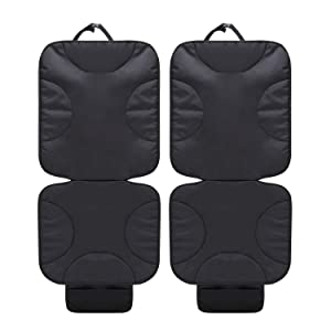 2 Pack Car Seat Protector Thick Protection for Cars Seats, Dog Mat Durable Cover Protects Automotive Vehicle Leather or Cloth Uphols