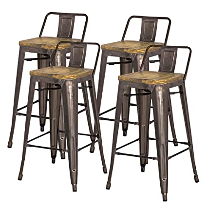 Amazoncom New Pacific Direct Metropolis Metal Low Back Bar Stool