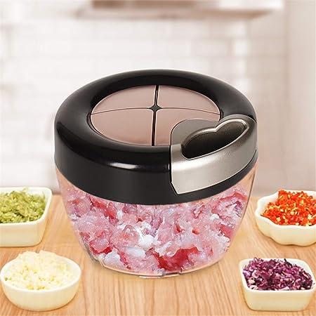 DX - Rallador de cocina manual para picadora de alimentos y verduras, cebolla trituradora de carne, robot de cocina (color como en la foto, tamaño: -), As Photo: Amazon.es