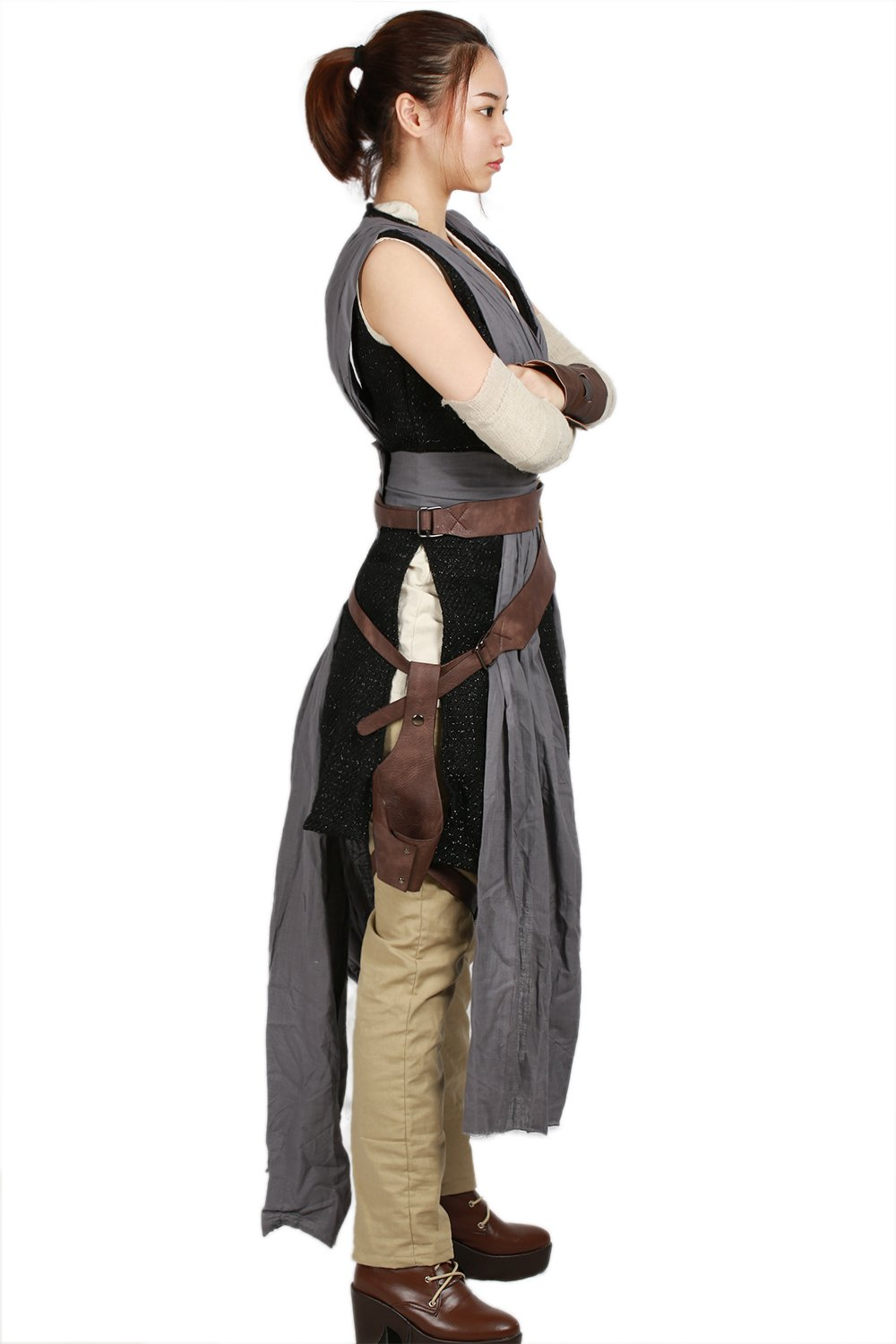 xcoser Rey Costume Deluxe Cool Full Set Tops Belt Tunic Movie Cosplay Women Outfit L by xcoser (Image #4)