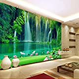 Ohcde Dheark 3 Styles Spa Salon Yoga Wallpaper Roll Wall Mural 3D Background Stream Waterfall ,250cmX175cm(98.4 By 68.9 In )