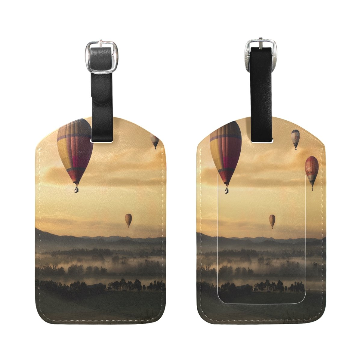 1Pcs Saobao Travel Luggage Tag Hot Are Balloon PU Leather Baggage Suitcase Travel ID Bag Tag