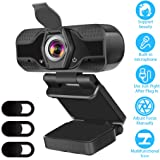 CUUWE HD 1080p Webcam Camera With Microphone PC USB Camera Webcam for Online Teaching/Video Conferencing/Recording and…