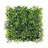 ULAND Artificial Hedges Panels, Outdoor Greenery Ivy Privacy Fence Screening, Home Garden Wedding Decoration, 4pcs 10″x10″