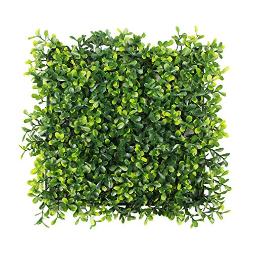 (ULAND Artificial Hedges Panels, Outdoor Greenery Ivy Privacy Fence Screening, Home Garden Wedding Decoration, 4pcs 10