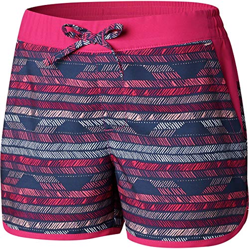 Columbia Kids Girl's Sandy Shores¿ Boardshorts (Little Kids/Big Kids) Haute Pink Chevron Print/Haute Pink Large