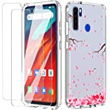 nlxl (3 in 1) for blackview a80 pro Case with Glass Screen Protector (2 Pack) Slim Clear Soft TPU Silicone Phone Case…