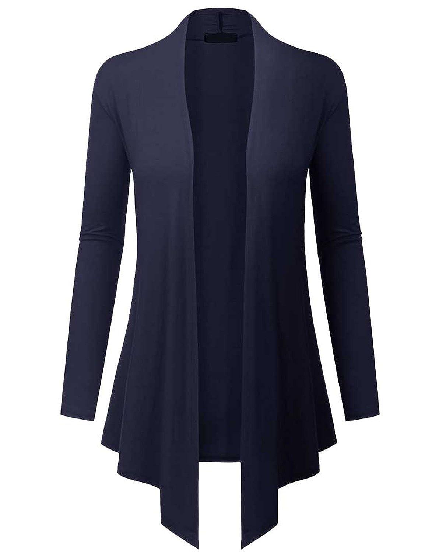 LYXIOF Damen Rundhals Langarm Shirt Einfarbige Loose Sweatshirt Tunika Bluse Top mit Taschen