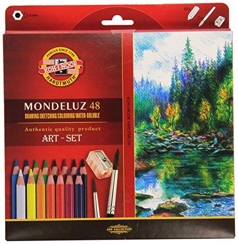 KOH-I-NOOR 3713 Mondeluz Aquarell Coloured Pencils - Assorted Colour (Set of 48)