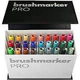 Karin Mini Box Pro 26Piece + 1Blender Transparent Body with Ink Free System Brush Marker Pro Brush, 24ml Liquid Colour: No Felt-Tip Pen Marker