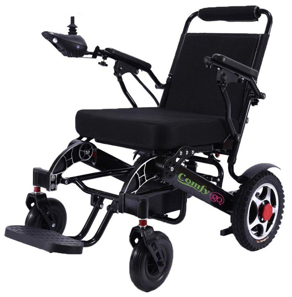 ComfyGO Best Rated Exclusive Deluxe XL Size Electric Wheelchair Motorized Fold Foldable Power Wheel Chair, Lightweight Folding Carry Electric Wheelchair, Powerful Dual Motor by ComfyGO