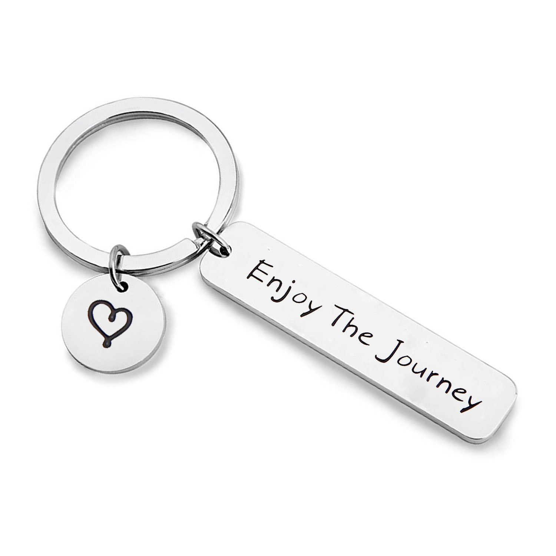 MAOFAED Graduation Gift Traveler Key chain Enjoy the Journey Sightseeing Gift Inspirational Adventure Seeker Gift (KR-Enjoy the Journey)