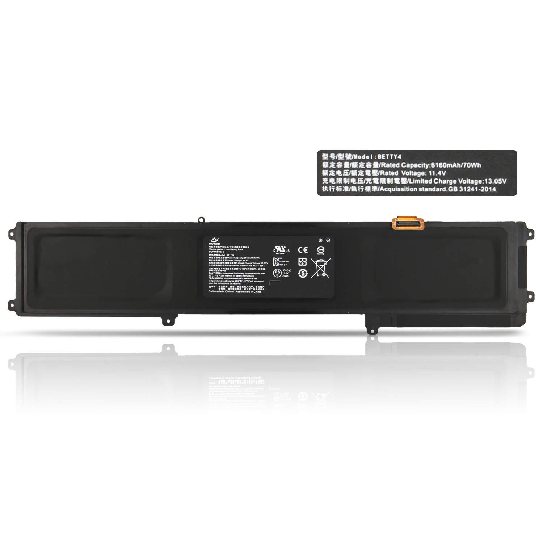 New BETTY4 Laptop Battery for Razer Blade 2016 14'' V2 Series 3ICP4/56/102-2 RZ09-0195 RZ09-0165 RZ09-01953E72 RZ09-01953E71 RZ09-01953W52 CN-B-1-BETTY4-73K-06472 70Wh 11.4V 6160mAh